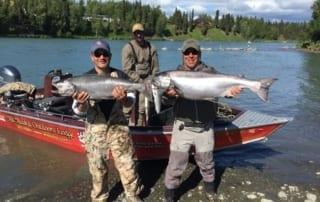 Fishermen with huge King Salmon